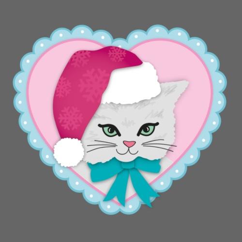 Kitch Kitten Heart | Retro Festive Cute Kitchmas