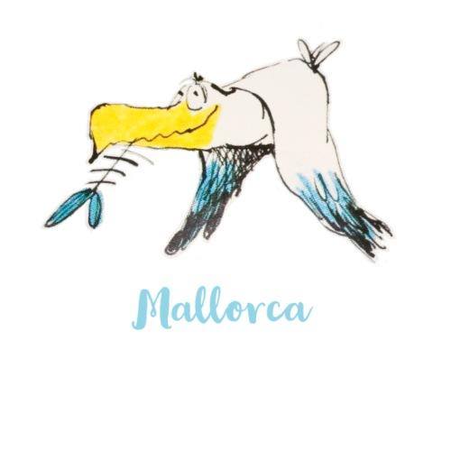 Eine lustige Moewe von der Balearen-Insel Mallorca - Stoffbeutel