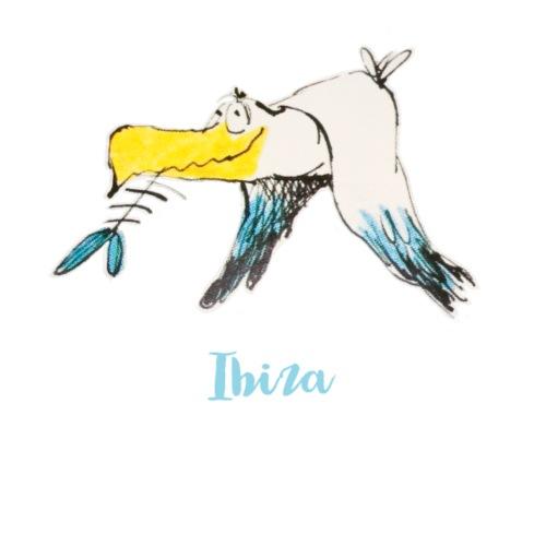 Eine lustige Moewe von der Balearen-Insel Ibiza - Stoffbeutel