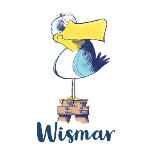 Die witzige Möwe von Wismar - Stoffbeutel
