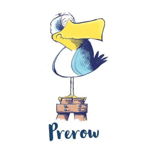 Lustige Möweaus Prerow - Stoffbeutel