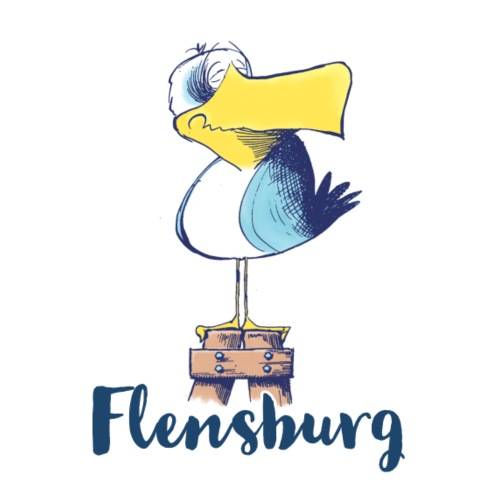 Lustige Flensburg Möwe - Stoffbeutel