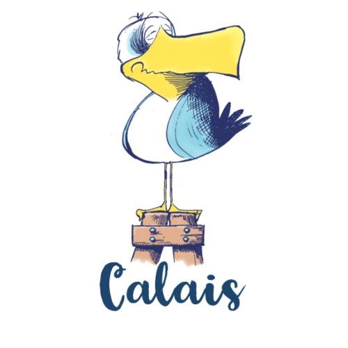 Lustige Möwe vom Hafen in Calais - Stoffbeutel