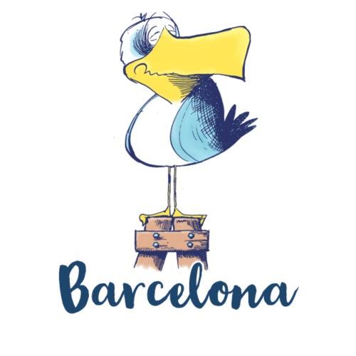 Lustige Moewe Barcelona - Stoffbeutel
