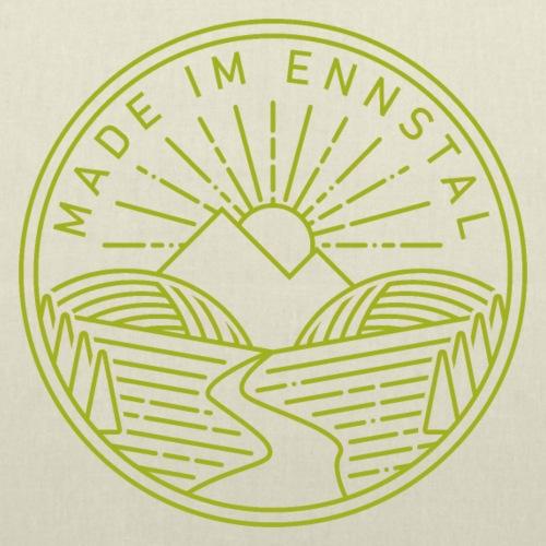 Made im Ennstal, grün - Stoffbeutel