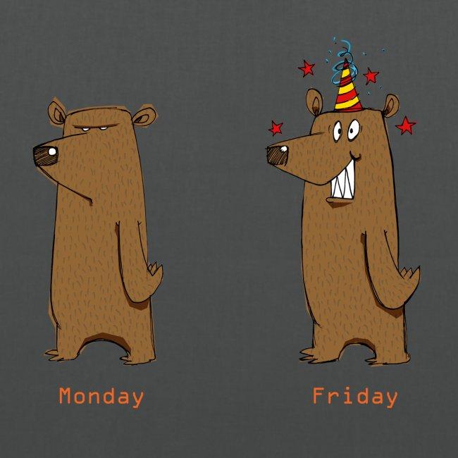 Odio il lunedì Love Friday Lavora per sopportare la settimana