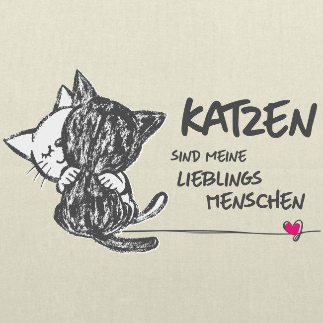Vorschau: Katzen Lieblingsmenschen - Stoffbeutel