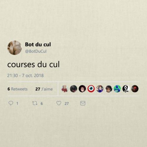"""Tweet """"courses du cul"""" blanc"""