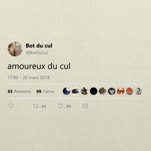 "Tweet ""amoureux du cul"" blanc"