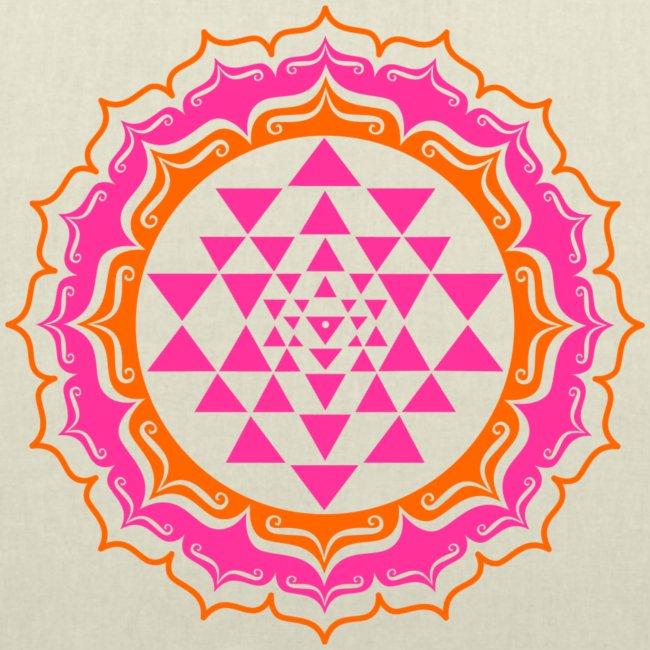 Sri Yantra - pink & orange