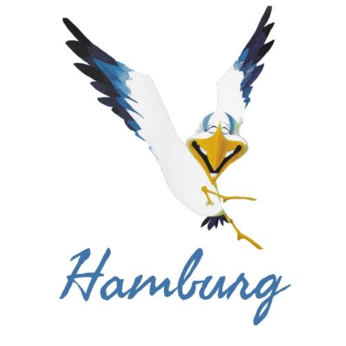 Lachmöwe aus Hamburg - Stoffbeutel