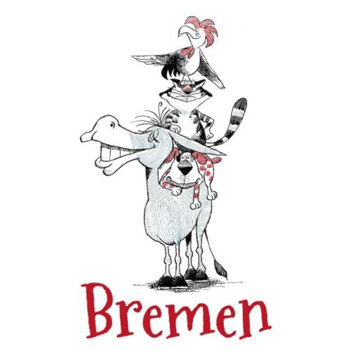Bremer Stadtmusikanten - Stoffbeutel