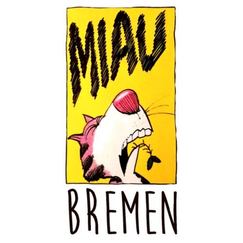 Bremer Stadtmusikanten Katze Miau - Stoffbeutel