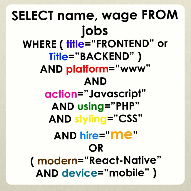 SELECT NEW JOB