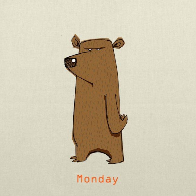 Odio lunedì scontroso orso lavoro ufficio pendolari