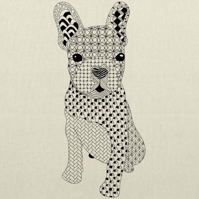 Bulldog puppy patroon