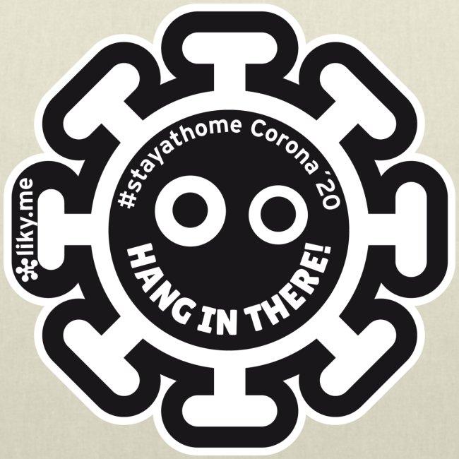 Corona Virus #stayathome black