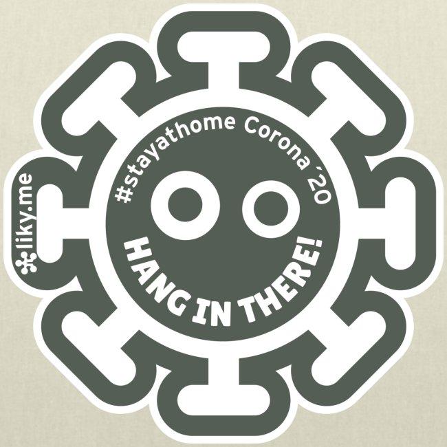 Corona Virus #stayathome grey