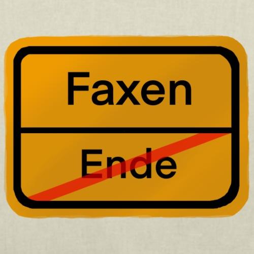 Ortsbeginn Faxen - Stoffbeutel