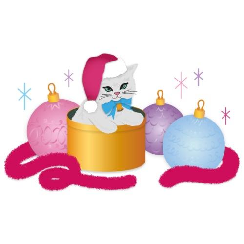 Christmas Kitsch Kitten   Baubles Tinsel Cute Cat