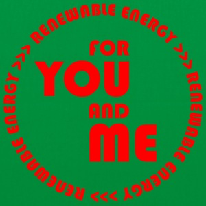 RENEWABLE ENERGY for you and me - red - Tote Bag