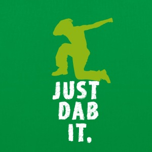 dab green man Dabbing touchdown Football fun cool - Stoffbeutel