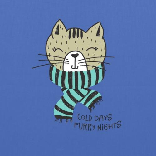 Cat Winter Cold Days Furry Nights - Stoffbeutel