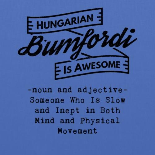 Bumfordi - Hungarian is Awesome (black fonts) - Tote Bag