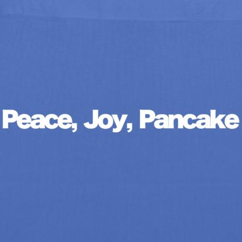 peace joy pankake white 2020 - Stoffbeutel