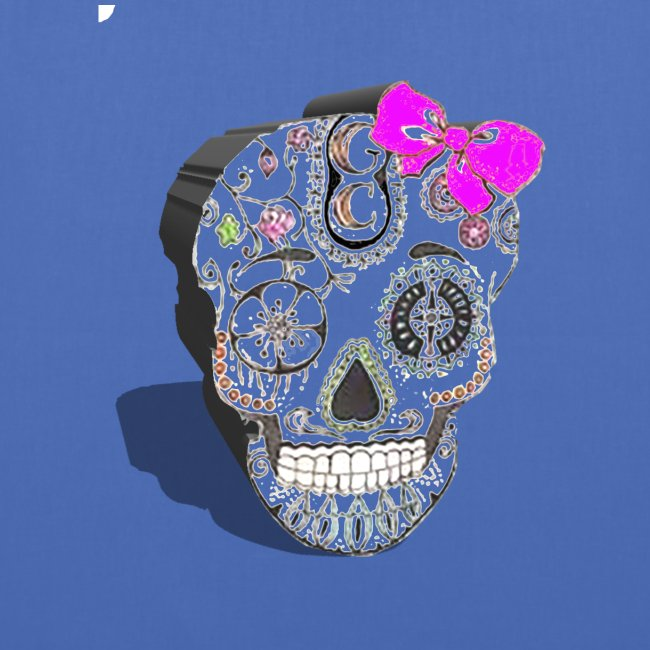 Tête de mort mexicaine 3D