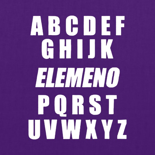 Buchstaben des Alphabets und Schreibelemente in de