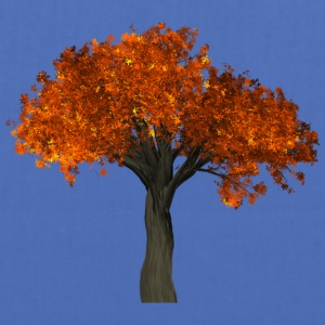 Tree with orange leaves - Autumn - Tote Bag
