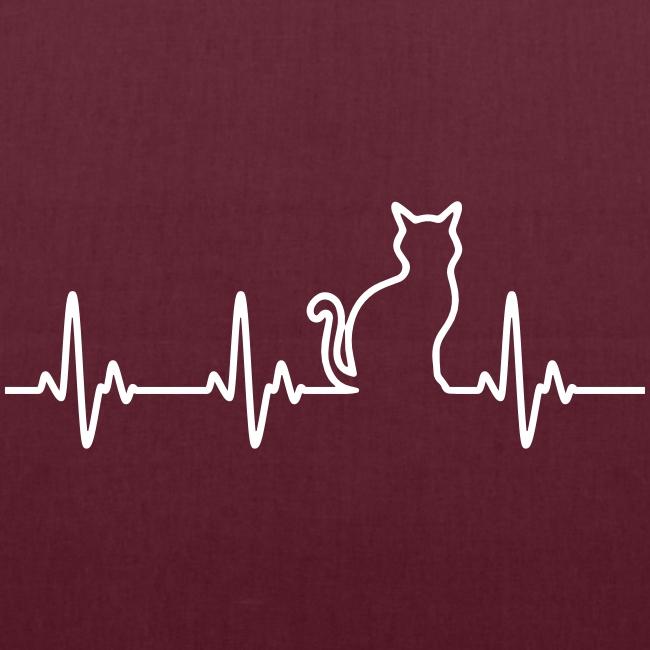 Vorschau: Ein Herz für Katzen - Stoffbeutel