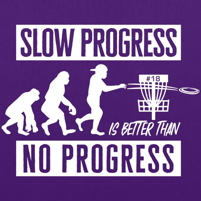 Disc golf - Slow progress - White