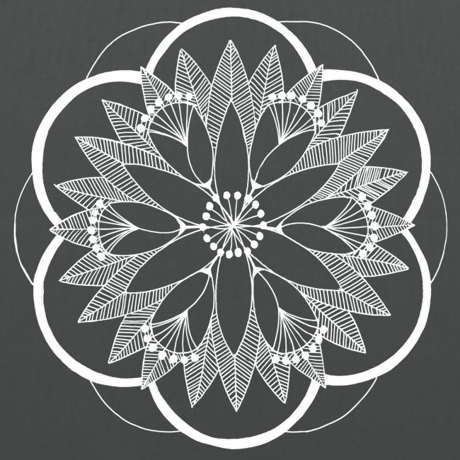 White Pond Bouquet Mandala