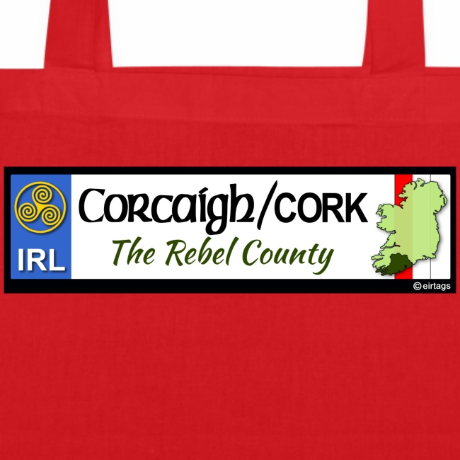 CO. CORK, IRELAND: licence plate tag style decal