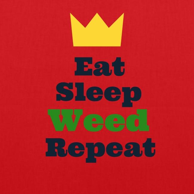 Eat Sleep Weed Repeat Tees by SeSQoOo