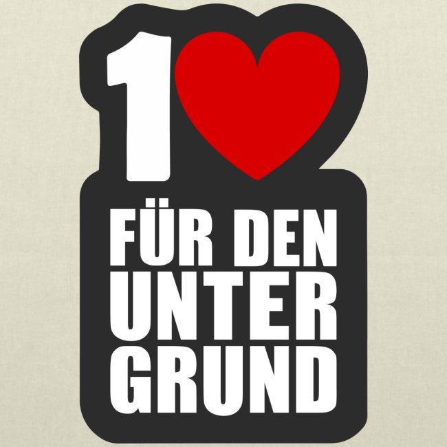 1 Herz für den Untergrund - Logo grau