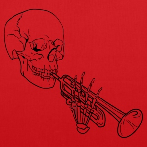 Skeleton with Trumpet - Tote Bag