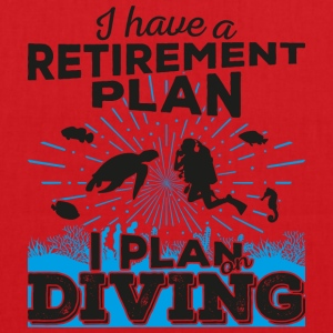 Retirement plan diving (dark) - Tote Bag