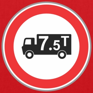 Road sign truck 7 5 t - Tote Bag