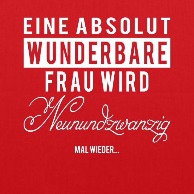 Shirt Liebe 29 Geburtstag Spruch Stoffbeutel