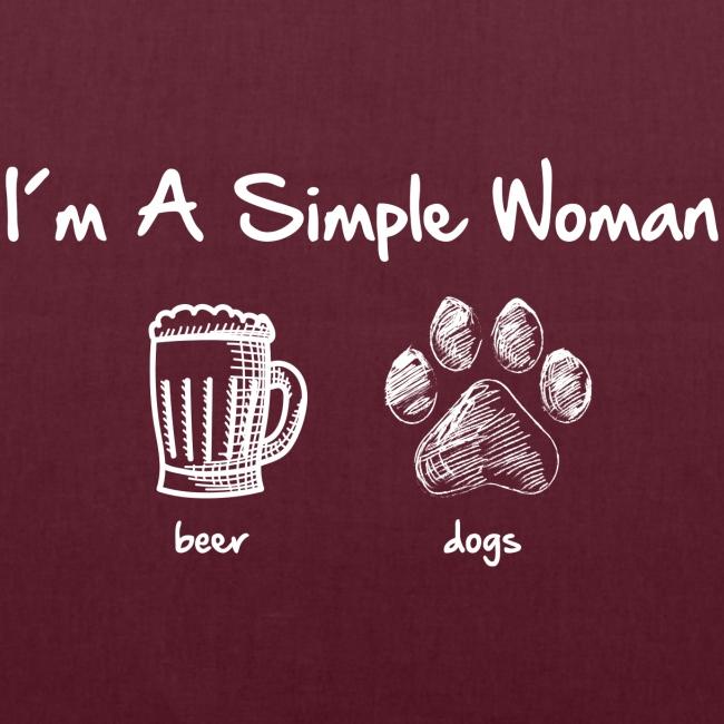 Vorschau: simple woman beer white - Stoffbeutel