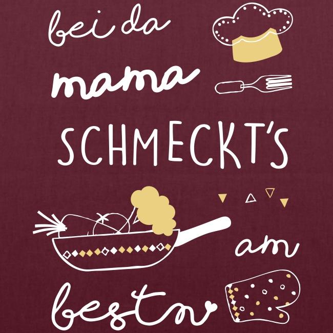Vorschau: Bei da Mama schmeckts am bestn - Stoffbeutel