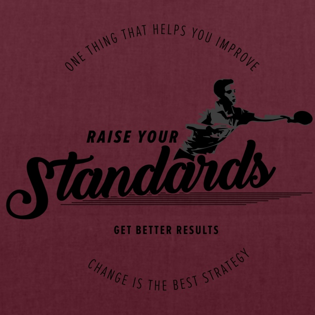 Raise your standards and get better results