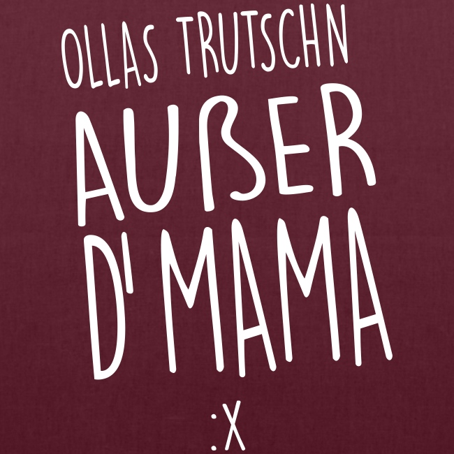 Vorschau: Ollas Trudschn außer d'Mama - Stoffbeutel