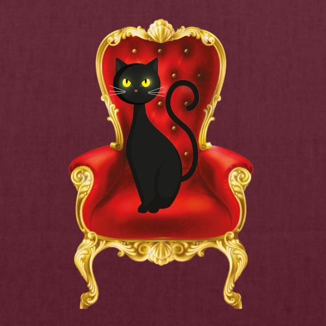 Katze auf Sessel