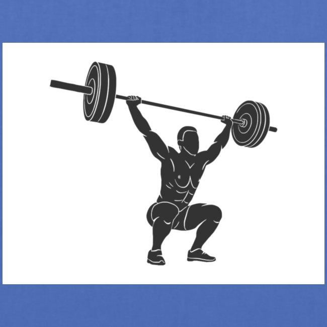 Gewichtheber aufdruck