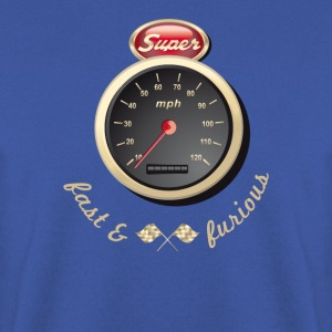 Gasoline Vintage Car car quickly Tacho Tuning km / h - Men's Sweatshirt