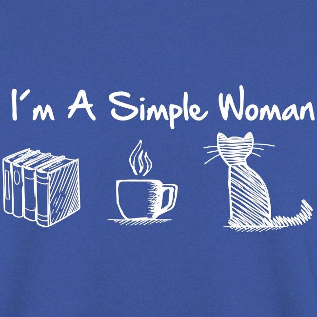 Vorschau: simple woman cat books - Unisex Pullover